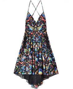"""Techno Animals"" Chiffon Tiered Dress by Mara Hoffman (found on Bona Drag)."