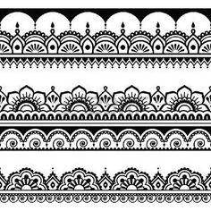 Mehndi, Indian Henna Tattoo Long Pattern, Design Elements Stock Illustration - Illustration of folk, lace: 54668880 Mehndi Tattoo, Henna Tattoo Muster, Dotwork Tattoo Mandala, Hand Tattoo, Doodle Patterns, Henna Patterns, Zentangle Patterns, Indian Patterns, Zentangles