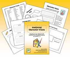 Analyzing Character Traits is a 23-page packet from Laura Candler that includes a variety of strategies and printables for teaching students how to analyze character traits. The lessons in this packet are aligned with the Common Core Reading Standards for Grades 3 - 5 that deal with character analysis. $4.50