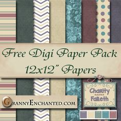 Free Charity Digital Scrapbook Paper Pack ***Join 2,080 people. Follow our Free Digital Scrapbook Board. New Freebies every day.