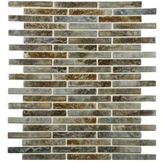 Merola Tile Rustica Brick Noce Slate 10-3/4 in. x 12-3/4 in. x 8 mm Porcelain Mosaic Tile-FCP53RNS - The Home Depot