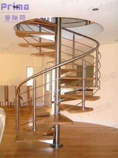 Modern Spiral Staircase With Wooden Tread $1~$1000