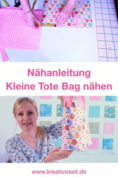 sew small tote bag- In this video tutorial I will show you how you can quickly sew a super cute little bag! # Bag sewing, # tote bag sewing, # sewing for beginners # simple sewing - Clothes For Summer, Sewing Hacks, Sewing Projects, Diy Furniture Videos, Invisible Stitch, Diy Clothes Videos, Small Tote Bags, Ladder Stitch, Macrame Bag