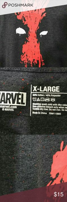Dead Pool TShirt Marvel Dead Pool Tee in like new condition - gently worn with no stains, holes, notable wear or tear. Marvel Shirts Tees - Short Sleeve