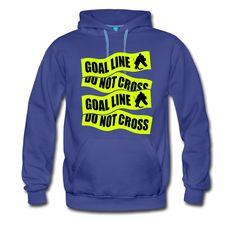 e3d94954e525 Goal Line, Do Not Cross, heavy fleece hockey goalie hoodie. One of many