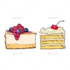 Hand Drawn Desserts