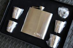Flask Groomsmen Gifts, Groomsmen Gift Ideas, Engraved Flask, Groomsmen Flask Set, Groomsmen Flask, Groomsmen Flask Etsy, Usher, Ring Bearer  Our