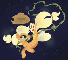 #1525448 - applejack, applejack's hat, artist:jaqueline anderson, cowboy hat, female, hat, kelp, mare, my little pony: the movie, safe, seaponified, seapony applejack, seapony (g4), solo, species swap, spoiler:my little pony movie, the art of my little pony: the movie, underwater - Derpibooru - My Little Pony: Friendship is Magic Imageboard