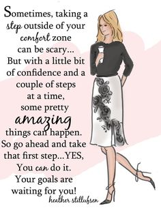 Stepping Outside Your Comfort Zone Art by RoseHillDesignStudio