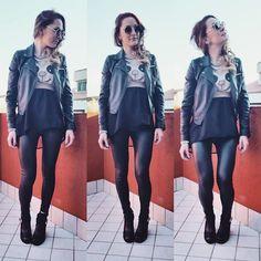 Get this look: http://lb.nu/look/7118204  More looks by Viktoria Bivol: http://lb.nu/bivolvika  Items in this look:  Zara Sunglasses   #casual #rock