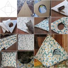 How to DIY Easy Cardboard Cat Tent | iCreativeIdeas.com Like Us on Facebook ==> https://www.facebook.com/icreativeideas
