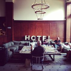 交流広場。エースホテルのロビー。 - @yurioseki- #webstagram