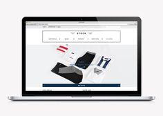 Le studio de design graphique Studio NEWWORK signe la conception de l'identité visuelle de la marque de vêtement Stock.