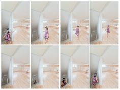 a house. made of slides.