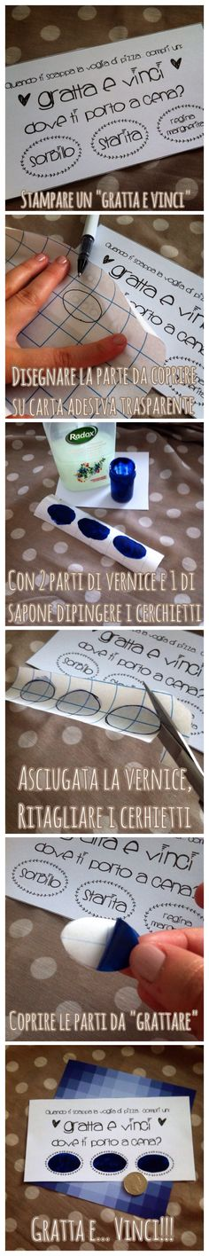 Gratta e vinci home made