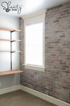 Easy tutorial on how to install a DIY Thin Brick Wall by Shanty2Chic!
