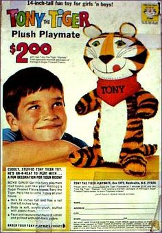 Tony the tiger toy #kellogs  #cereal #retro