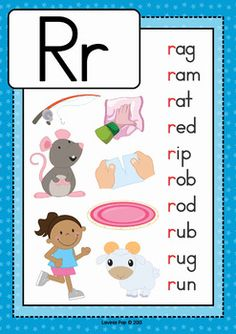 Phonics Letter of the Week R by Lavinia Pop Phonics Flashcards, Alphabet Phonics, Phonics Worksheets, Phonics Reading, Teaching Phonics, Kindergarten Language Arts, Kindergarten Reading, Learning English For Kids, English Phonics