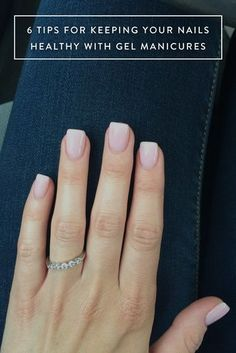 Try these beauty hacks to keep your nails looking healthy with a gel manicure.