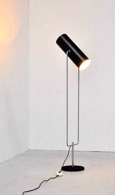 Anonymous, #D2300, Enameled Metal Floor Lamp, 1960s.