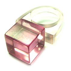 Vintage 80s Lucite Ring by BreesVintageRevivals