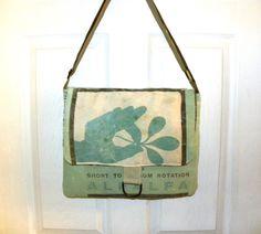 Vintage Grandstand Alfalfa seed sack upcycled by LoriesBags