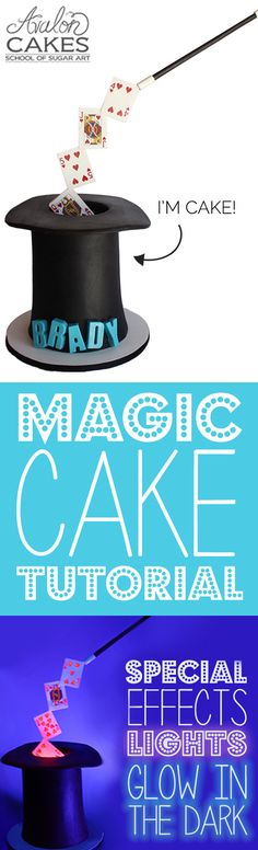 Magic Hat Cake with Special Effects CAKE TUTORIAL... so cool! It's floatinggg....