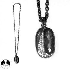 SG Paris Necklace 52cm+Ext Gun Metal Black Diamond Noir/Jet Necklace Necklace Glass Winter Women Night Bird Fashion Jewelry / Hair Accessories Z Others SG Paris. $7.45