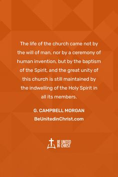 The life of the church came not by the will of man, nor by a ceremony of human invention, but by the baptism of the Spirit, and the great unity of this church is still maintained by the indwelling of the Holy Spirit in all its members. Unity Quotes, Jesus Quotes, Dysfunctional Relationships, Healthy Relationships, This Kind Of Love, Christian Love, Charles Spurgeon, Transform Your Life, The Life