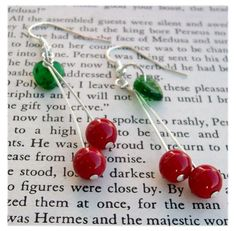 cheery cherry earrings by pawandclawdesigns.etsy