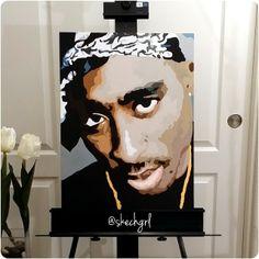 My Tupac painting. Follow me on Instagram - skechgrl :) #paint #painting #art #artwork #artist #music #draw #drawing #sketch