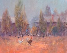 Ted Lewis 'A Grey Morning' 61cm x 77cm  #TedLewis #ContemporaryArt #AustralianArt #Art #Landscape