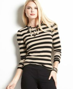 Striped Cotton Long Sleeve Tee | Ann Taylor