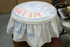 flour sack stool cover