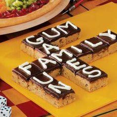 Scrabble Brownies (Game night food)