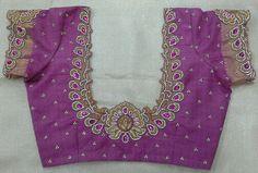 Pattu blouse with maggam work 91 9866583602 whatsapp no 7702919644