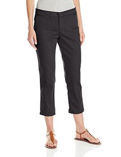 cd34e0a7 Dickies Women's Stretch Twill Capri Pant: Dickies misses stretch midrise  tapered leg twill capri with contour waistband with interlining to prevent  gapping ...
