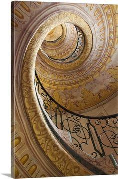 Escalier Art, Wachau Valley, Stair Well, Foyer Decorating, Stairway To Heaven, Stairway Art, Unique Architecture, Framed Prints, Canvas Prints