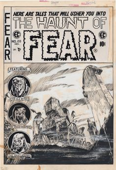 Haunt of Fear #28 by Graham Ingels Cover Comic Art