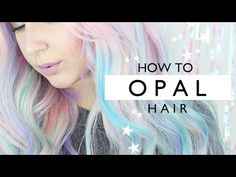 Take on mermaid hair's softer side with Opal hair color (swoon). Tasha Leelyn shows you how with ion Color Brilliance Brights Pastels. Diy Opal Hair, Winter Hairstyles, Diy Hairstyles, Hairdos, Ion Hair Colors, Hair Colour, Mermaid Hair Tutorials, Youtube Hair Tutorials, Pastel Rainbow Hair