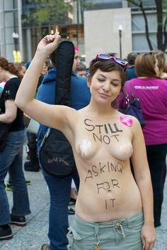 "rape victims are never ""asking for it."" #feminism #womanhood #slutwalk"