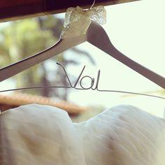Val nos compartió esta fotografía de su vestido de novia