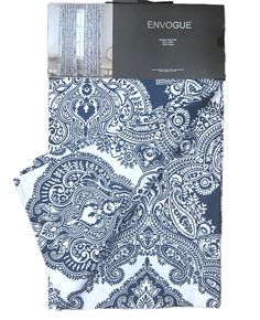 Envogue Navy Blue White Damask Medallions Window Panels Drapes Set of 2 52 by 96 #Envogue #Contemporary