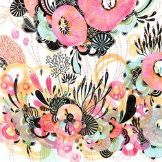 Yellena James - Float, pen & ink on paper