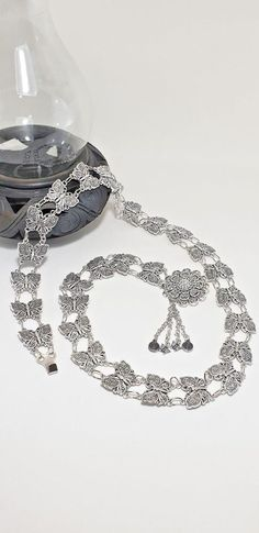 7d411a9e49a Butterfly Silver Rhodium Metal belt women costume Thai Traditional Adjustab  40