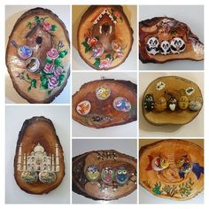 Image may contain: 2 people Pebble Painting, Pebble Art, Stone Painting, Painting On Wood, Stone Crafts, Rock Crafts, Silly Gifts, Wooden Wall Decor, Wood Burning Patterns