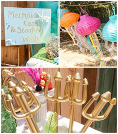 The Little Mermaid Themed Birthday Party via Kara's Party Ideas | Party printables, cake, tutorials, supplies, favors and more! KarasPartyIdeas.com (3)