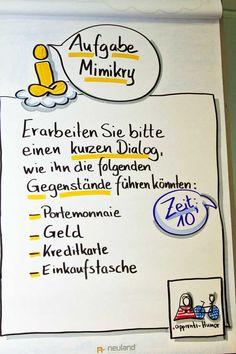 Sandra Dirks - Beispielflipchart zur aufgabenbeschreibung Mimikry