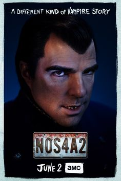 Watch AMC's and obsess over this different kind of vampire story. Stars Zachary Quinto as Charlie Manx. Scary Shows, Nos4a2, Vampire Stories, Zachary Quinto, Danse Macabre, Movie Memes, Horror Comics, Monster Mash, Chris Pine
