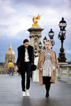 fabulous muses Paris fashion week